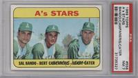High # - A's Stars (Sal Bando, Bert Campaneris, Danny Cater) [PSA7N…