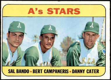 1969 Topps - [Base] #556 - High # - A's Stars (Sal Bando, Bert Campaneris, Danny Cater) [VGEX]