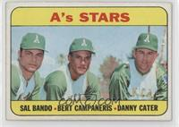 High # - A's Stars (Sal Bando, Bert Campaneris, Danny Cater) [NoneGood&nb…