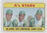 High # - A's Stars (Sal Bando, Bert Campaneris, Danny Cater)
