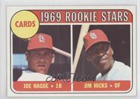 1969 Rookie Stars - Joe Hague, Jim Hicks