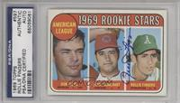 American League 1969 Rookie Stars (Bobby Floyd, Larry Burchart, Rollie Fingers)…