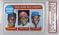 1968 NL Home Run Leaders (Willie McCovey, Richie Allen, Ernie Banks) [PSA…