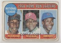 1968 NL Home Run Leaders (Willie McCovey, Richie Allen, Ernie Banks) [Poor …