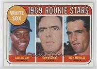 1969 Rookie Stars - Carlos May, Don Secrist, Rich Morales