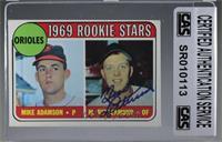 1969 Rookie Stars - Mike Adamson, Merv Rettenmund [CASCertifiedSeal…