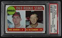 1969 Rookie Stars - Mike Adamson, Merv Rettenmund [PSA8NM‑MT]
