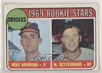 1969 Rookie Stars - Mike Adamson, Merv Rettenmund [Good to VG‑E…