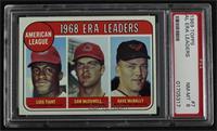 1968 AL ERA Leaders (Luis Tiant, Sam McDowell, Dave McNally) [PSA8N…