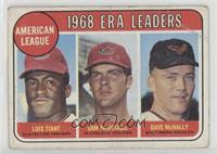 1968 AL ERA Leaders (Luis Tiant, Sam McDowell, Dave McNally) [Poor]