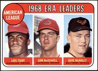 1968 AL ERA Leaders (Luis Tiant, Sam McDowell, Dave McNally) [NM]