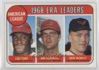 1968 AL ERA Leaders (Luis Tiant, Sam McDowell, Dave McNally)