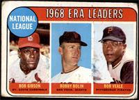 1968 NL ERA Leaders (Bob Gibson, Bob Bolin, Bob Veale) [POOR]