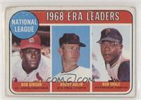 1968 NL ERA Leaders (Bob Gibson, Bob Bolin, Bob Veale) [PoortoFair]
