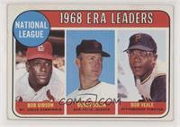 1968 NL ERA Leaders (Bob Gibson, Bob Bolin, Bob Veale)