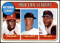 1968 NL ERA Leaders (Bob Gibson, Bob Bolin, Bob Veale) [VGEX]