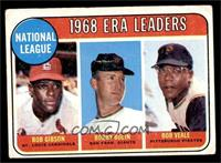 1968 NL ERA Leaders (Bob Gibson, Bob Bolin, Bob Veale) [FAIR]