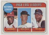 1968 NL ERA Leaders (Bob Gibson, Bob Bolin, Bob Veale) [Good to VG…