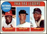 1968 NL ERA Leaders (Bob Gibson, Bob Bolin, Bob Veale) [VG]