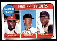 1968 NL ERA Leaders (Bob Gibson, Bob Bolin, Bob Veale) [EX]