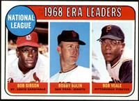 1968 NL ERA Leaders (Bob Gibson, Bob Bolin, Bob Veale) [NMMT]