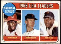 1968 NL ERA Leaders (Bob Gibson, Bob Bolin, Bob Veale) [GOOD]
