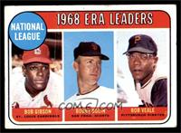 ERA Leaders (Bob Gibson, Bob Bolin, Bob Veale) [GOOD]
