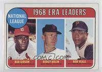 ERA Leaders (Bob Gibson, Bobby Bolin, Bob Veale) [GoodtoVG‑EX]