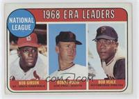 ERA Leaders (Bob Gibson, Bobby Bolin, Bob Veale) [Altered]
