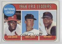 ERA Leaders (Bob Gibson, Bobby Bolin, Bob Veale)