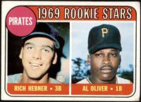 1969 Rookie Stars - Richie Hebner, Al Oliver [GD+]