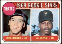 1969 Rookie Stars - Richie Hebner, Al Oliver [VG+]