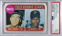 1969 Rookie Stars - Richie Hebner, Al Oliver [PSA7NM]