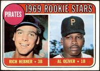 1969 Rookie Stars - Richie Hebner, Al Oliver [VGEX]