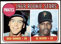 1969 Rookie Stars - Richie Hebner, Al Oliver [EX]