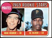 1969 Rookie Stars - Richie Hebner, Al Oliver [VG]