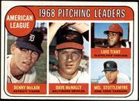 1968 AL Pitching Leaders (Denny McLain, Luis Tiant, Mel Stottlemyre, Dave McNal…