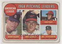 Denny McLain, Luis Tiant, Mel Stottlemyre, Dave McNally [Poor to Fair]