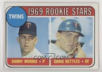 1969 Rookie Stars - Danny Morris, Graig Nettles (Black Loop Above Twins) [Good&…