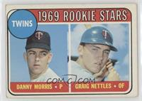 1969 Rookie Stars - Danny Morris, Graig Nettles (Black Loop Above Twins)