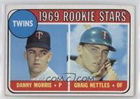 Twins Rookie Stars (Danny Morris, Graig Nettles) (Black Loop Above Twins) [Good…