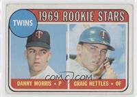 1969 Rookie Stars - Danny Morris, Graig Nettles (No Loop Above Twins) [Good&nbs…