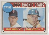 1969 Rookie Stars - Danny Morris, Graig Nettles (No Loop Above Twins) [Poor&nbs…
