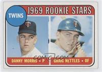Twins Rookie Stars (Danny Morris, Graig Nettles) (No Loop Above Twins)
