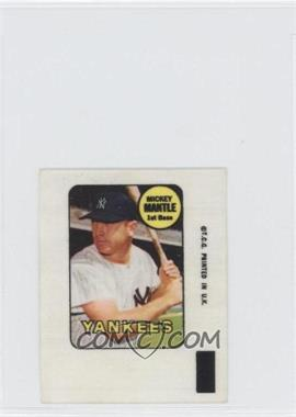 1969 Topps - Decals #MIMA - Mickey Mantle