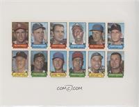 Nelson Briles, Pete Ward, Eddie Fisher, Hank Aaron, Bud Harrelson, Gary Peters,…