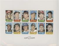 Bob Gibson, Al Kaline, Paul Schaal, Bill Hands, Mike Shannon, Norm Cash, Cleon …