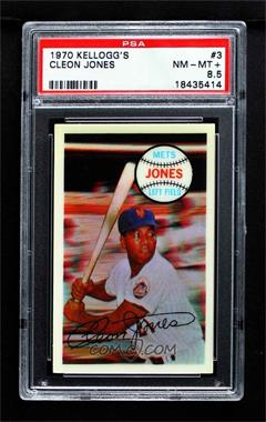 1970 Kellogg's 3-D Super Stars - [Base] #3 - Cleon Jones [PSA 8.5 NM‑MT+]