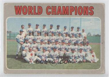 1970 O-Pee-Chee - [Base] #1 - World Champions (New York Mets)
