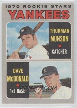 1970 O-Pee-Chee - [Base] #189 - 1970 Rookie Stars (Thurman Munson, Dave McDonald) [GoodtoVG‑EX]
